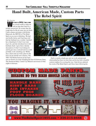 Page 52 of Hand Built, American Made, Custom Parts The Rebel Spirit