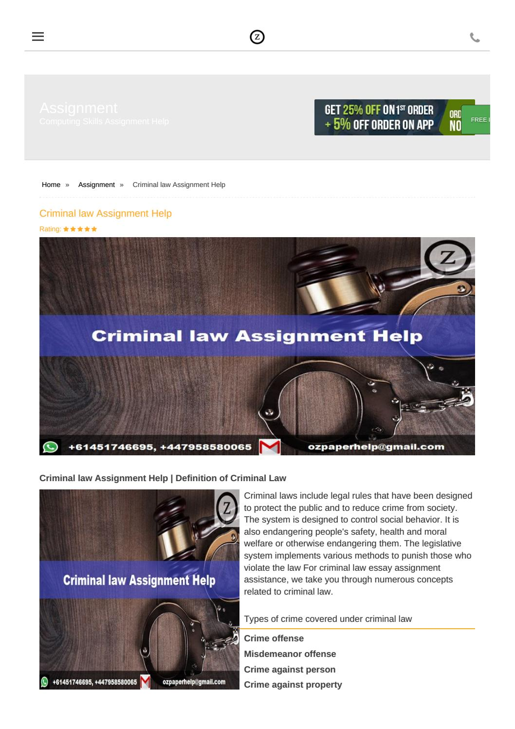 Help with my criminal law assignment execetive training center business plan