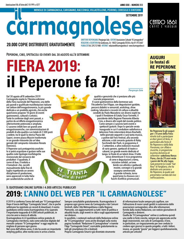 Centro Del Materasso Carmagnola.Il Carmagnolese Settembre 2019 By Redazione Il Carmagnolese Issuu