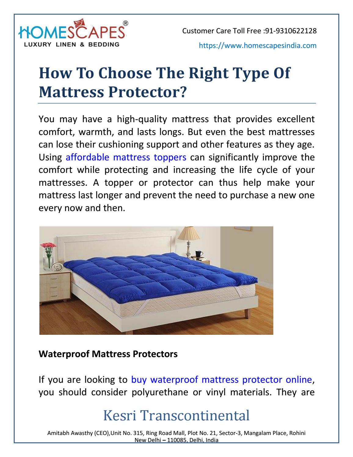 How To Choose The Right Type Of Mattress Protector By Manju Sharma Issuu