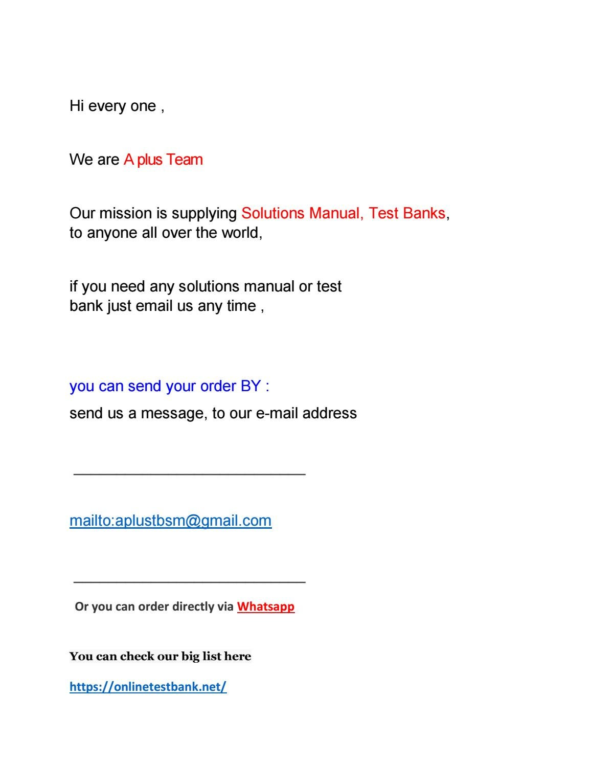 Test Bank And Solution Manual List 5 2019 2020 Pdf By A Plus For Test Bank And Solution Manual Issuu