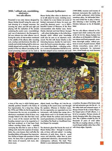 Page 43 of Mazen Kerbaj, Trumpet Solo Vol 2.1 &  Vol 2.2