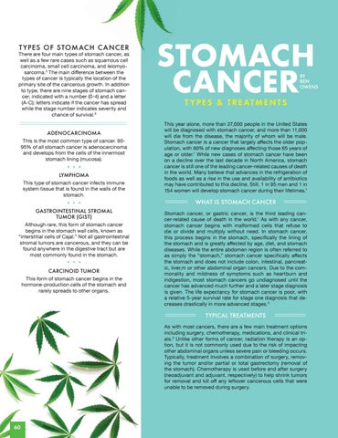 Page 60 of STOMACH CANCER   Types & Treatments