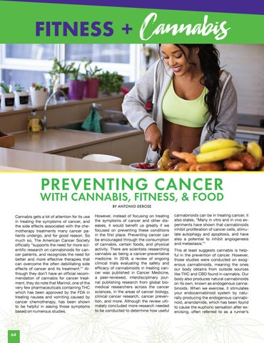 Page 64 of FITNESS + CANNABIS