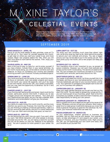 Page 66 of MAXINE TAYLOR'S CELESTIAL EVENTS