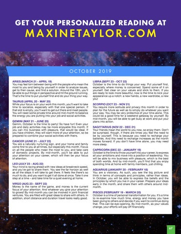 Page 67 of MAXINE TAYLOR'S CELESTIAL EVENTS