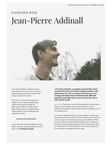 "Page 25 of Jean-Pierre Addinall on ""The House He Built"""