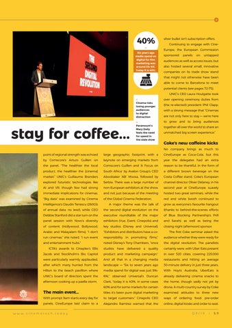 Page 59 of Events: CineEurope: go for popcorn, stay for coffee...