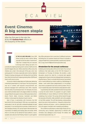 Page 80 of ECA VIew: Event Cinema: A big screen staple