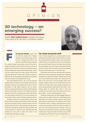 Page 86 of Opinion: 3D technology - an emerging success?
