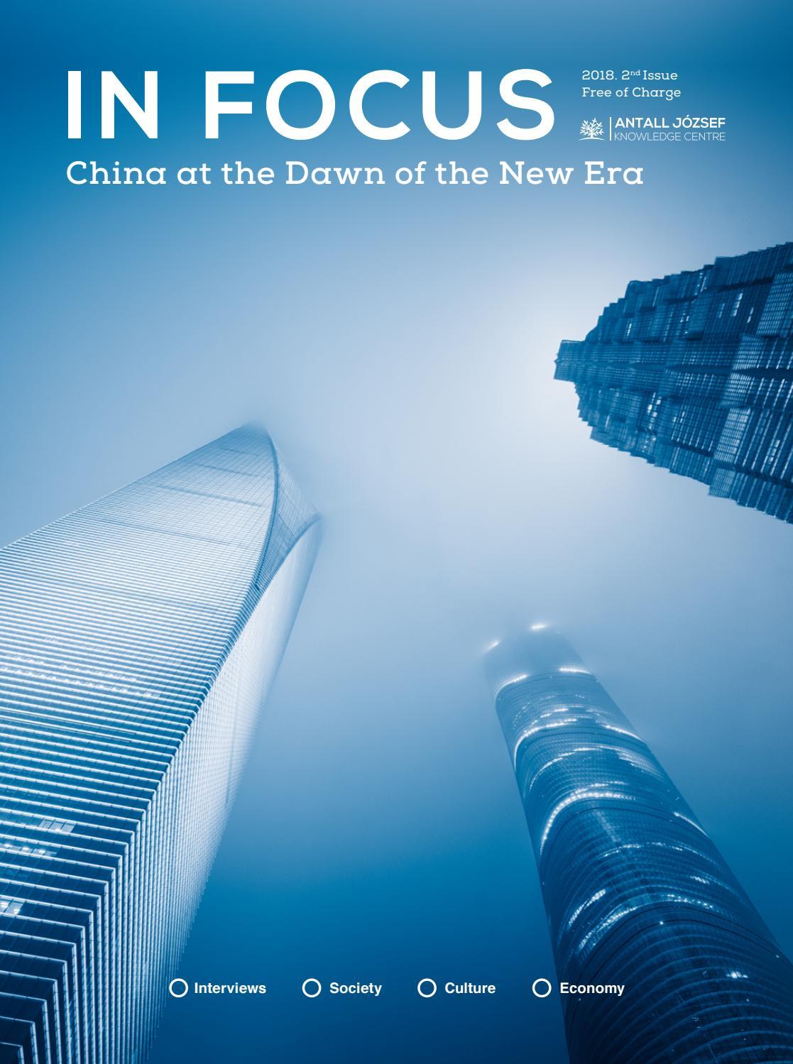 Infocus China 2018 1 By Antall Jozsef Tudaskozpont Issuu