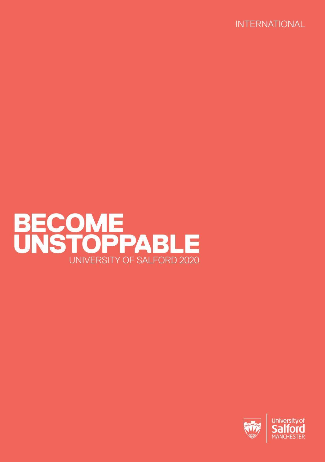 University Of Salford International Prospectus 2020 By University Of Salford Issuu