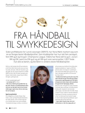 Page 16 of NORA MØRK by GULLDIA: Fra håndball til smykkedesign