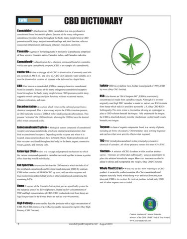 Page 8 of CBD Dictionary