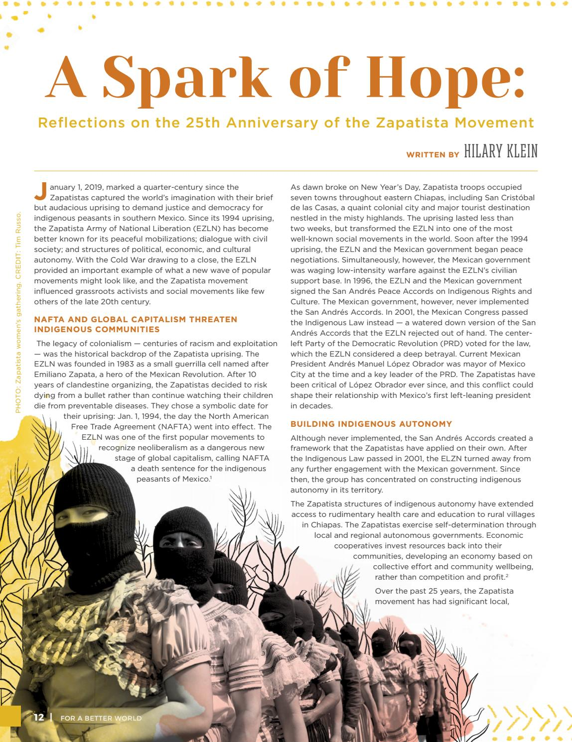 For a Better World | Issue 19 | Fair Trade: A Vision for a New Economy