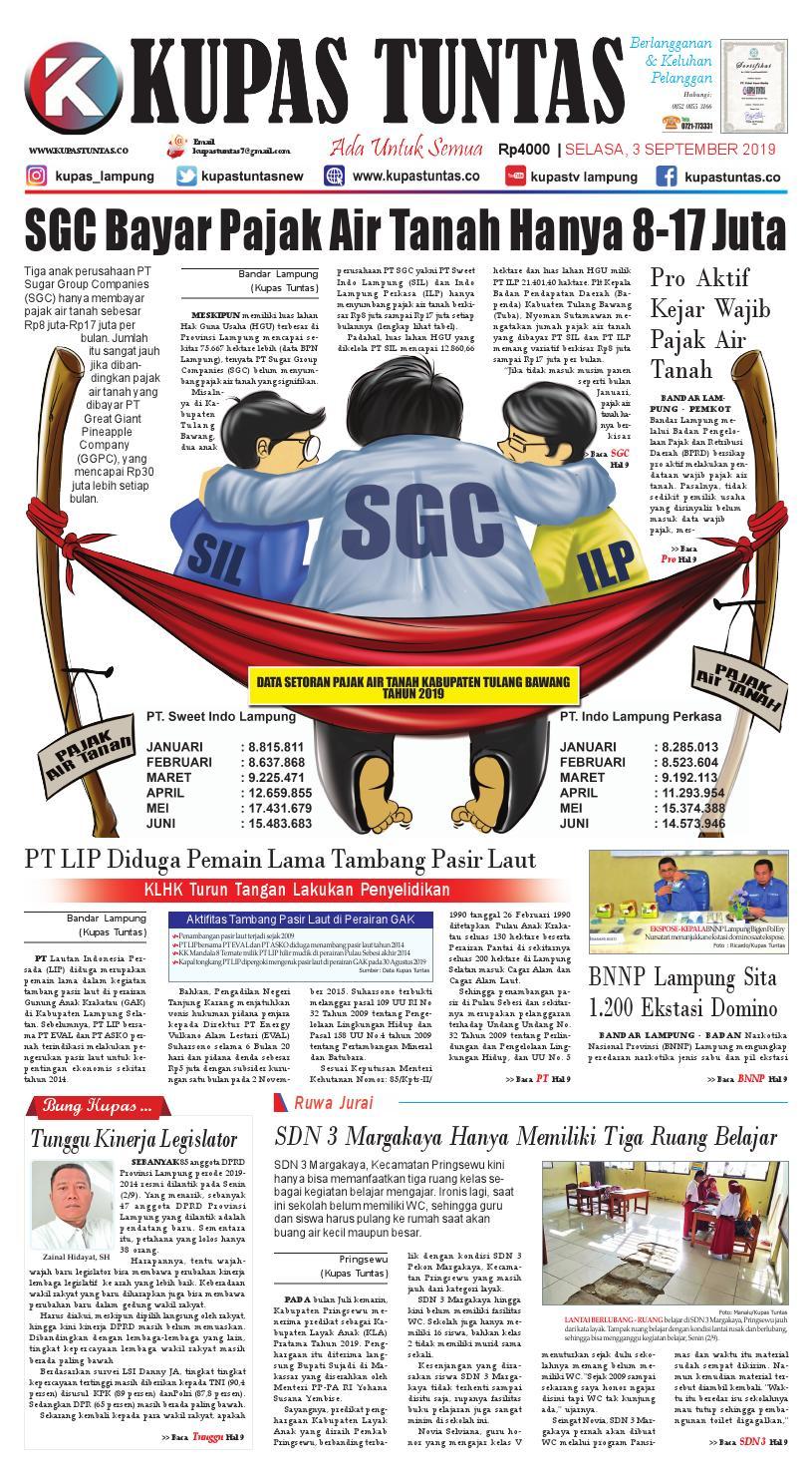 Surat Kabar Harian Kupas Tuntas Edisi Selasa 03 September