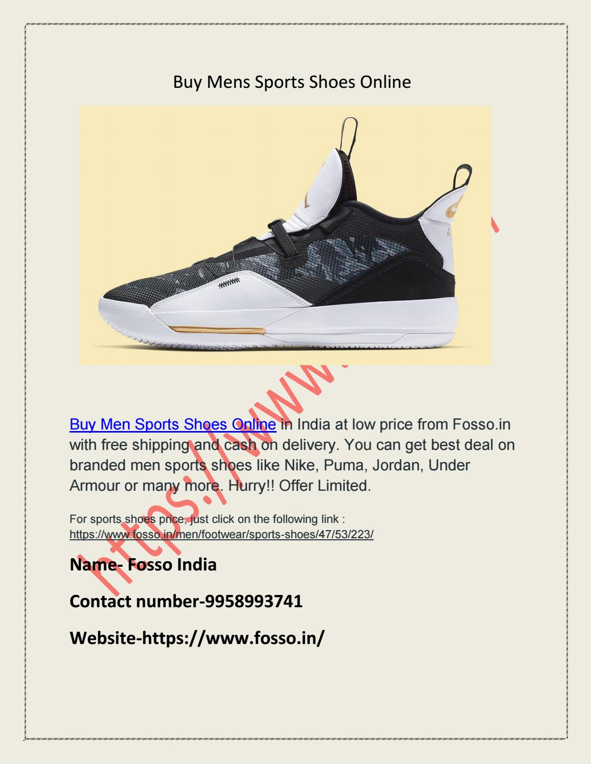 Buy mens sports shoes online by fosso