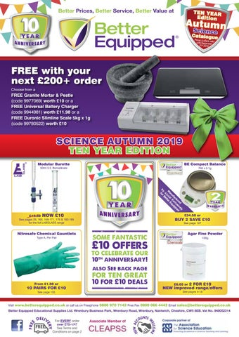 Better Equipped Educational Supplies Ltd Autumn 2019 Science