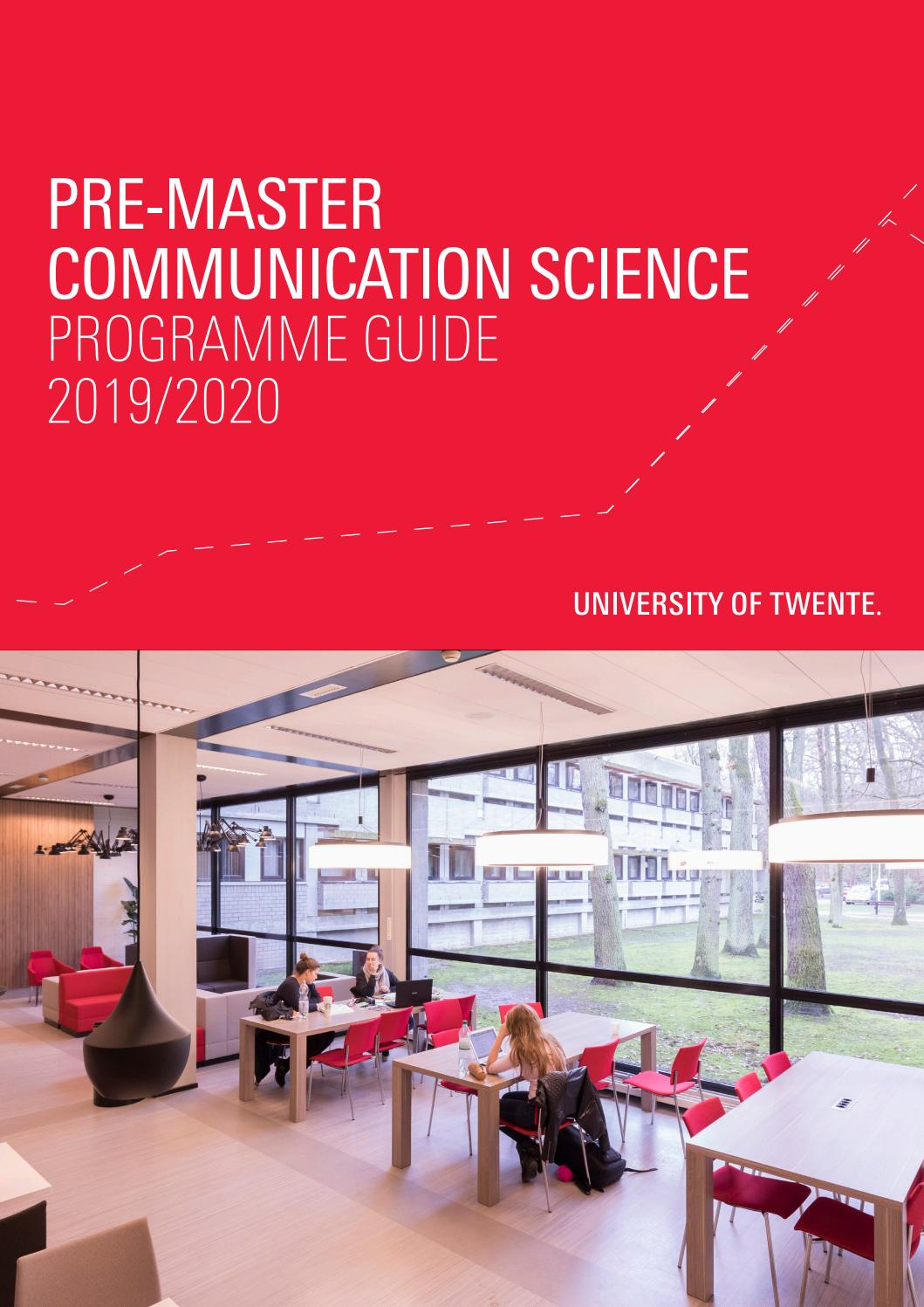 Studiegids Pre Master Communication Science 2019 2020 By University Of Twente Issuu