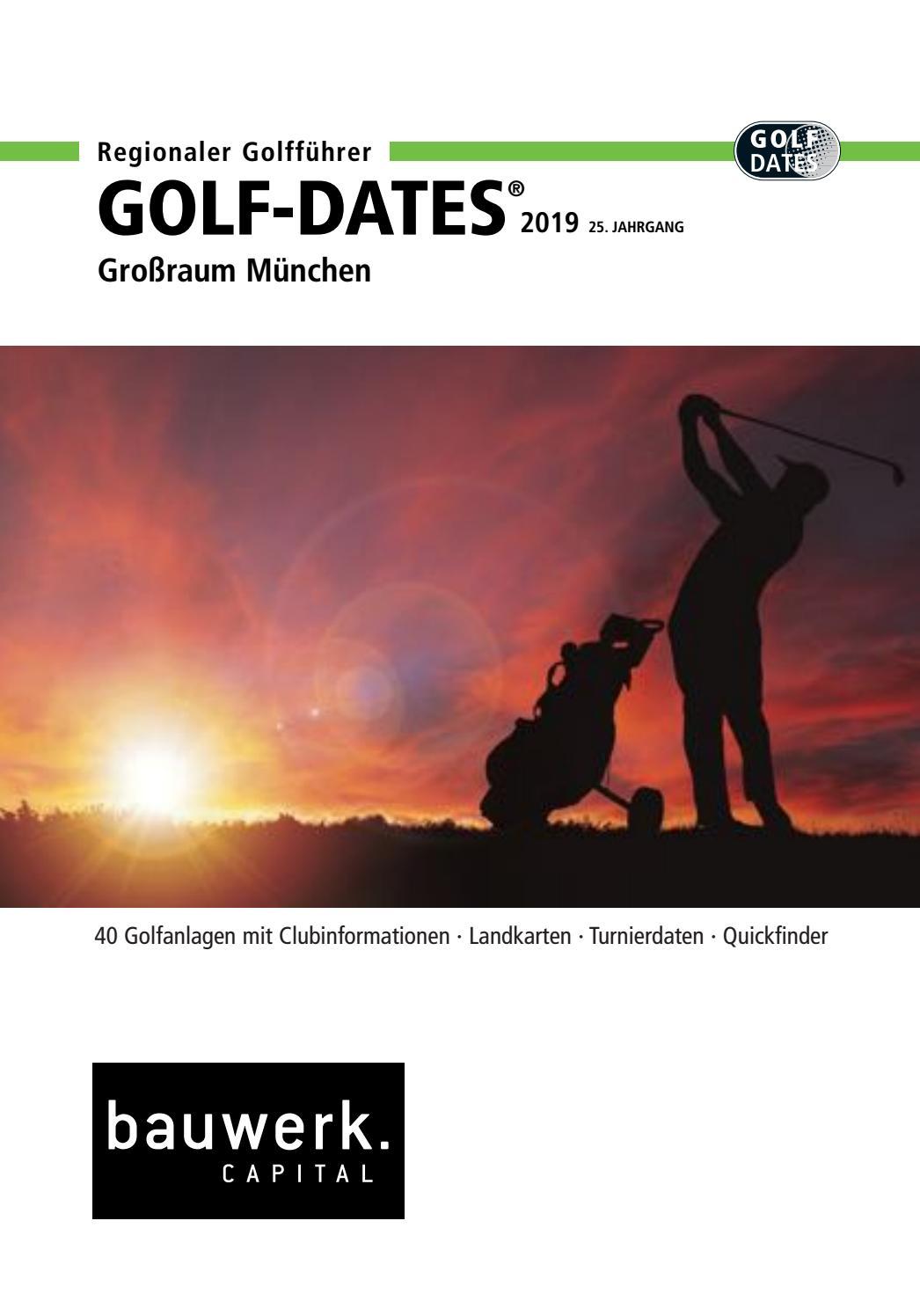 Regionaler Golfdates Golfführer 2019 Region München By