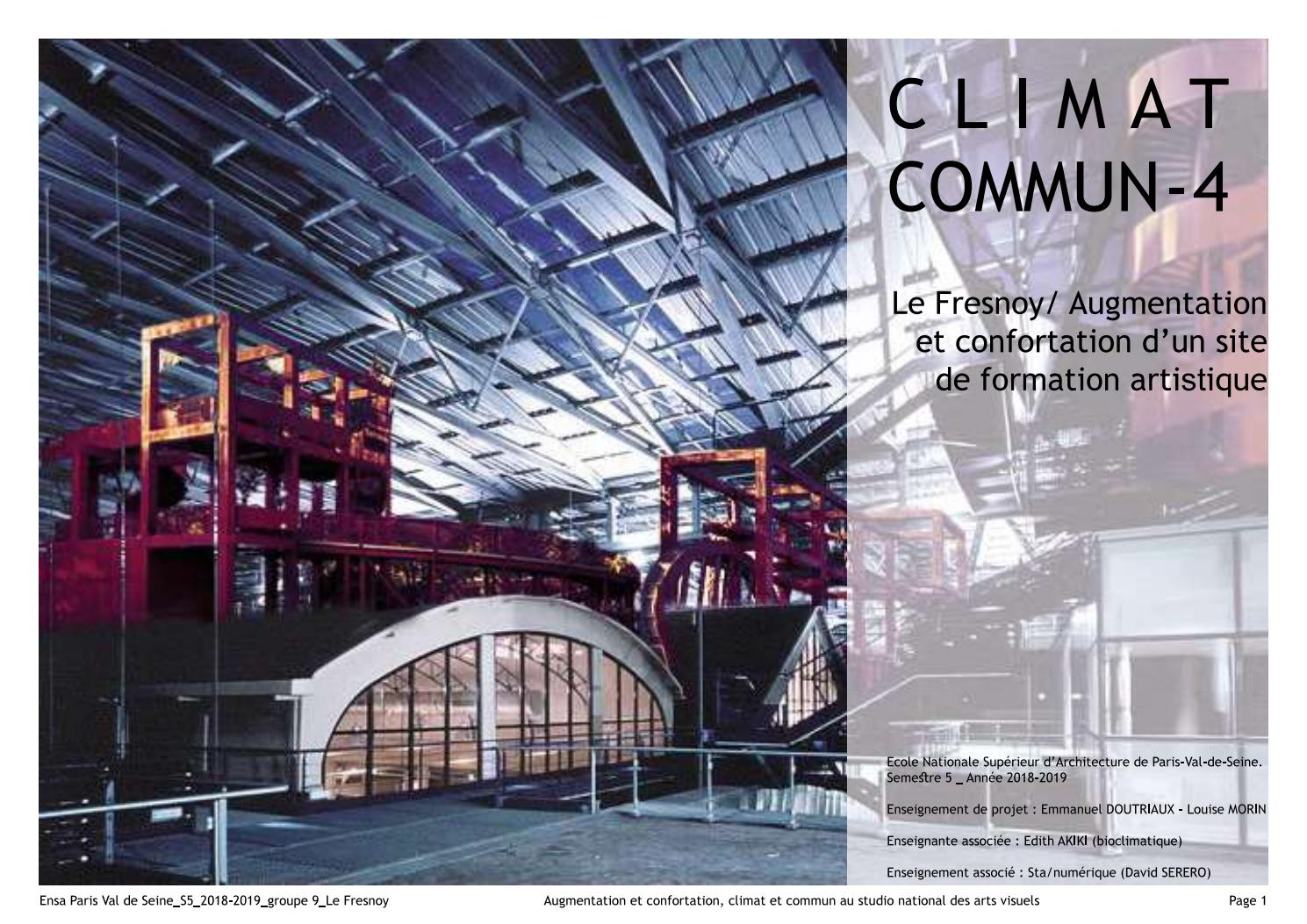 Ensa Paris Val De Seine ensa paris val de seine au fresnoy _ climatcommun (s5) 2019
