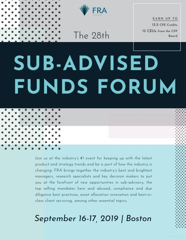The 28th Sub-Advised Funds Forum [B2161] by WilmingtonFRA