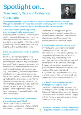 Page 6 of Spotlight on Tom French, Data and Evaluation Consultant