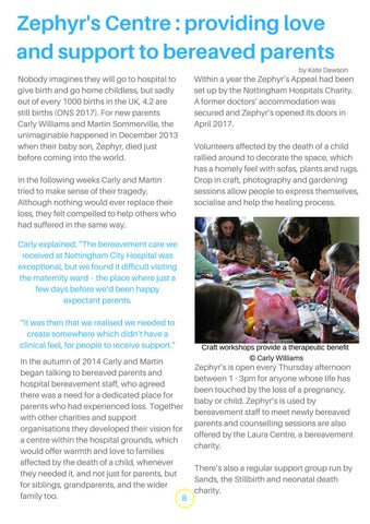 Page 8 of Zephyr's Centre: providing love and support to bereaved parents