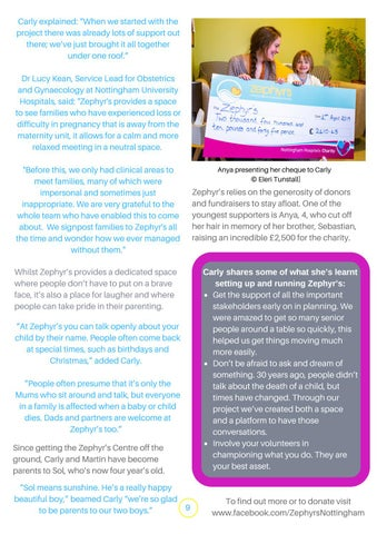 Page 9 of Zephyr's Centre: providing love and support to bereaved parents
