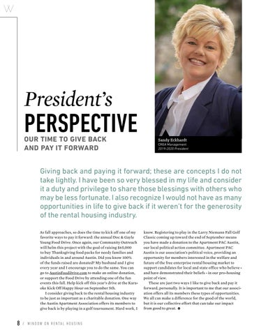 Page 10 of President's Perspective