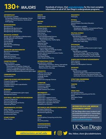 Uc San Diego Majors >> Uc San Diego Majors And Student Profiles By Uc San Diego