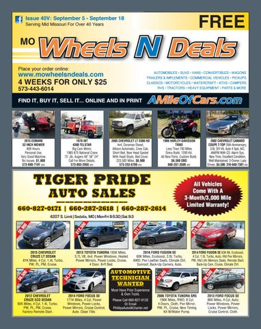 Wheels N Deals, Issue 40V by Maximum Media, Inc  - issuu