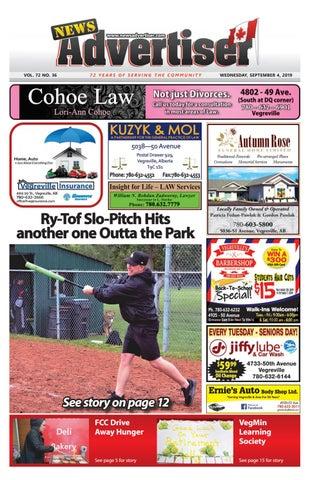 Vegreville News Advertiser - September 4, 2019 by The News