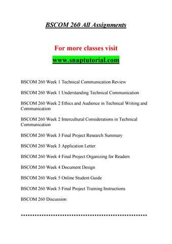 BSCOM 260 Education Specialist-snaptutorial.com by green ...