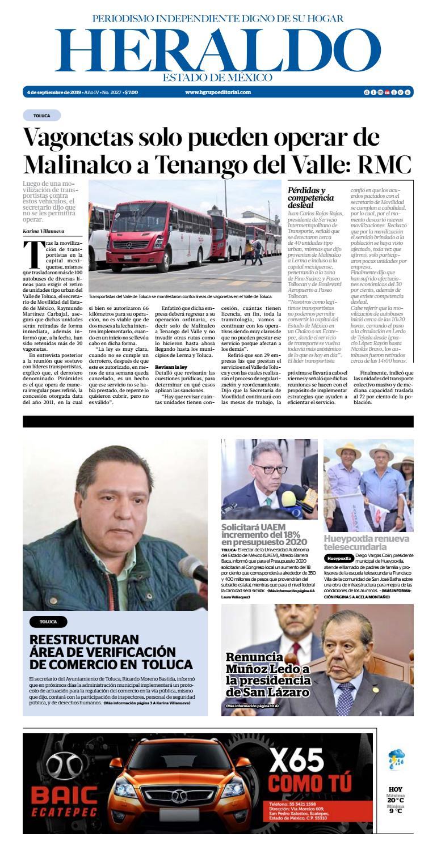 Miércoles 4 Septiembre 2019 by Heraldo Estado de México - issuu