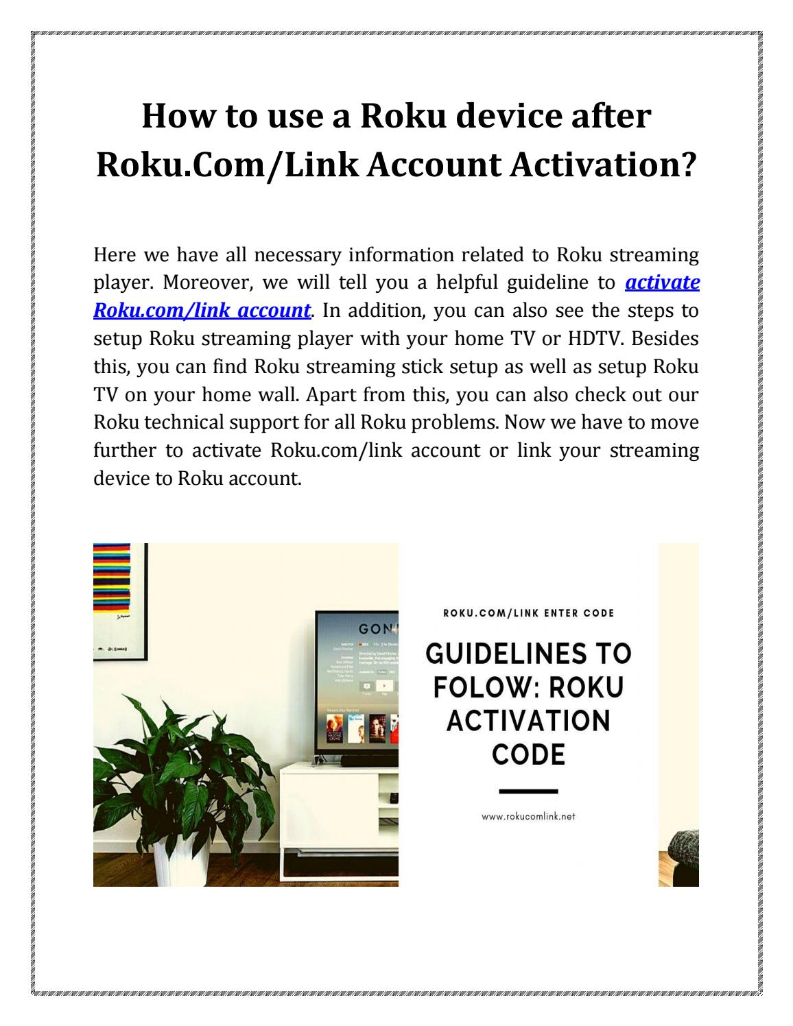 How to use Roku device after Roku.Com/Link Account Activation - Stream Free Roku Channels 2019