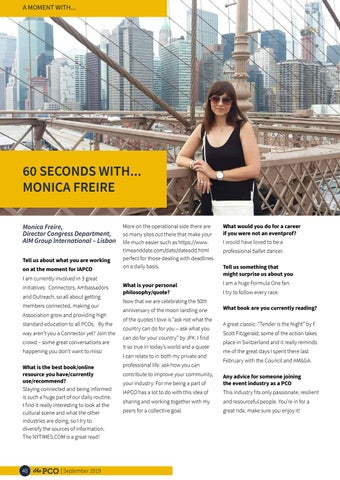 Page 48 of 60 seconds with Monica Freire