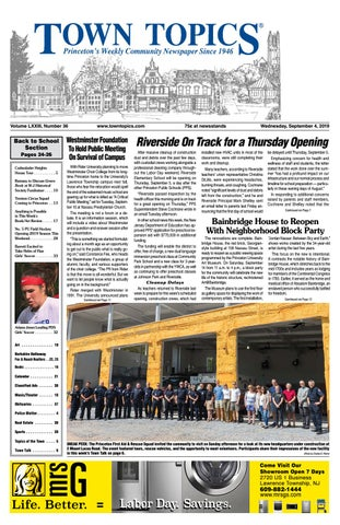 Town Topics Newspaper, September 4 by Witherspoon Media
