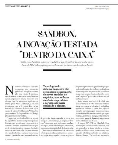 """Page 18 of SANDBOX, A INOVAÇÃO TESTADA """"DENTRO DA CAIXA"""""""