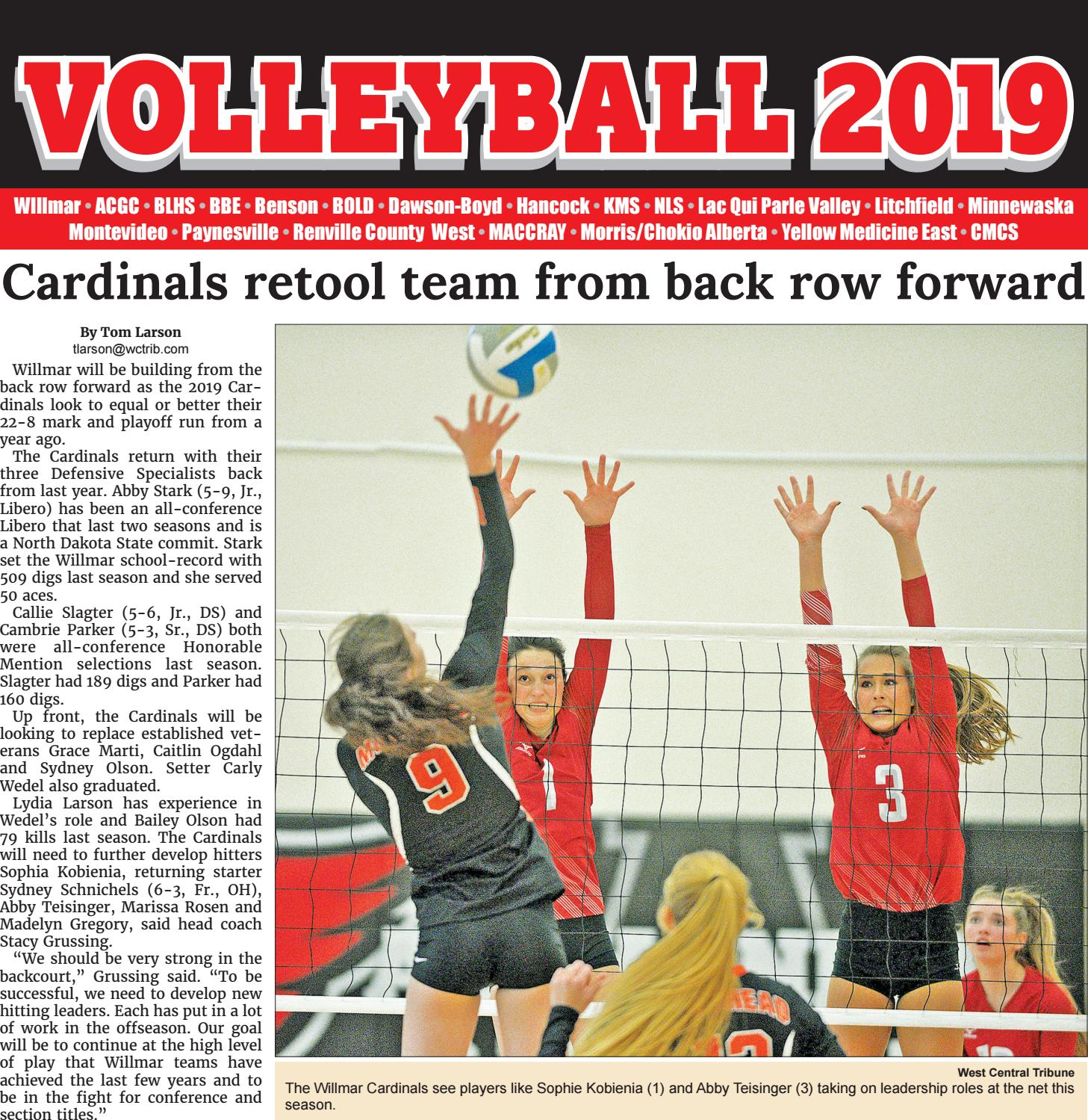 2019 Volleyball Preview By West Central Tribune Issuu