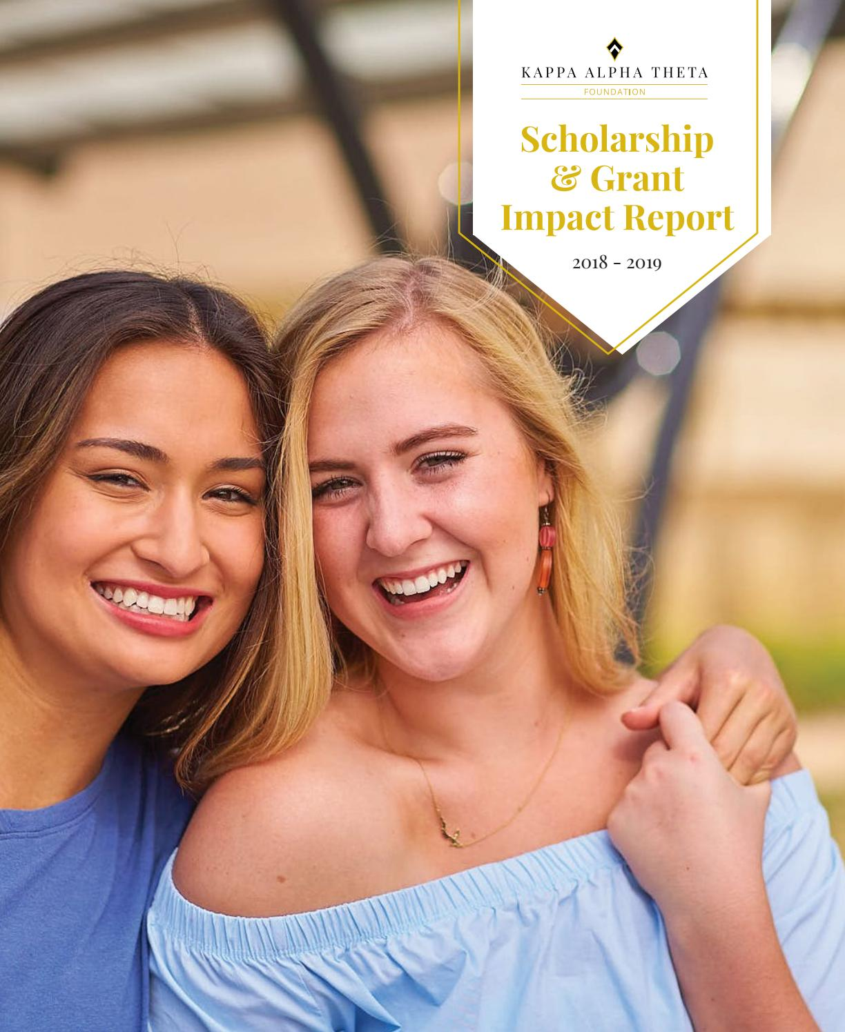 2018-2019 Scholarship & Grant Impact Report by Kappa Alpha