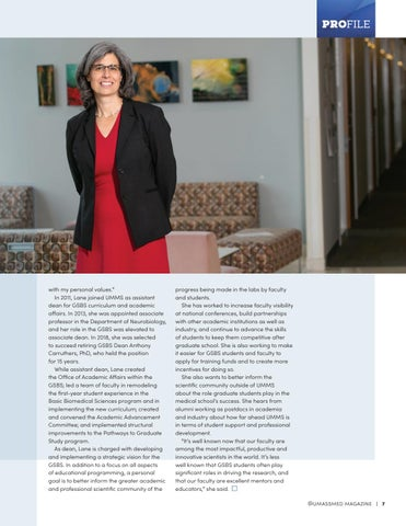 Page 9 of Mary Ellen Lane: Dean of the Graduate School of Biomedical Sciences