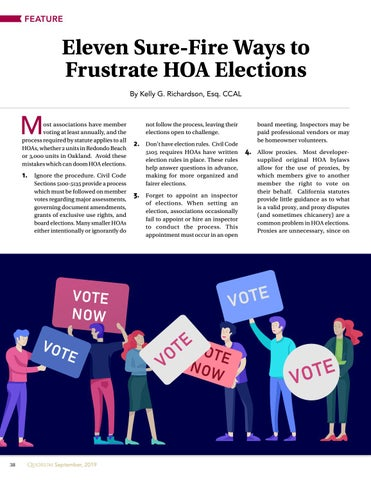 Page 38 of Eleven Sure-Fire Ways to  Frustrate HOA Elections