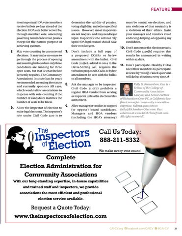 Page 39 of Eleven Sure-Fire Ways to  Frustrate HOA Elections