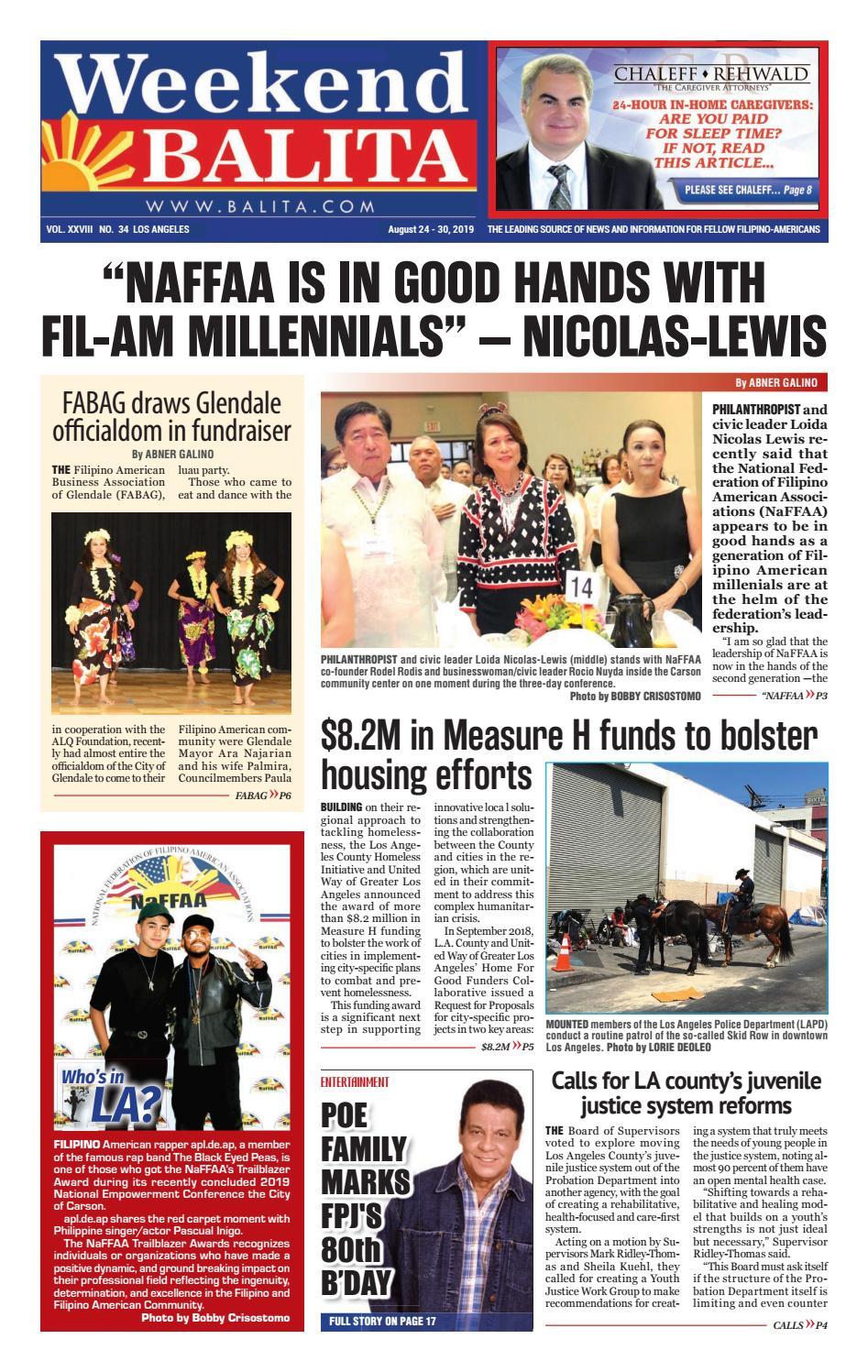 Weekend Balita August 24 2019 By Balita Media Inc Issuu
