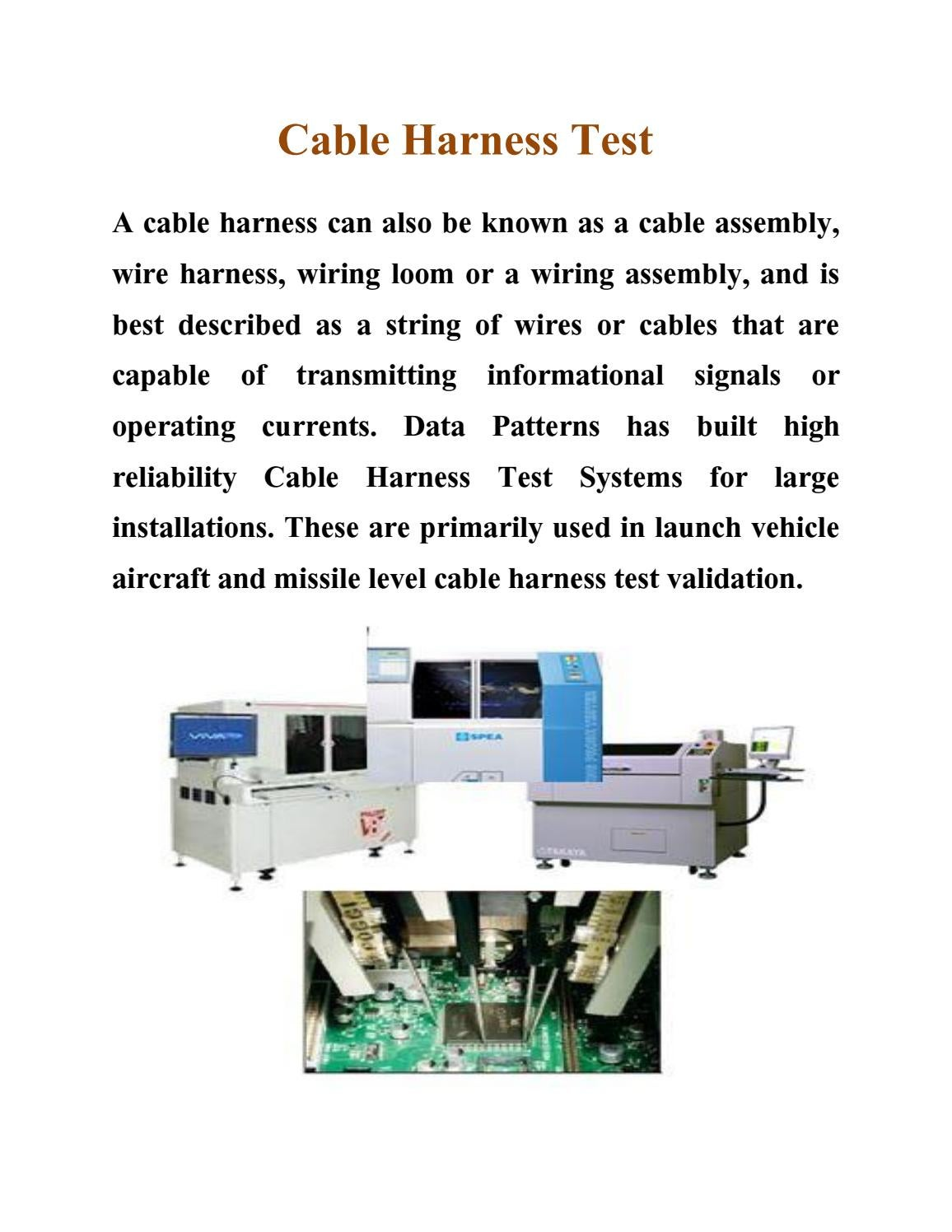 wiring harness used for printer cable harness test by equip test issuu  cable harness test by equip test issuu