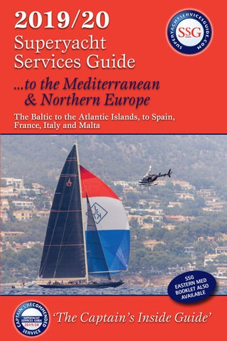 The 20192020 Superyacht Services Guide To The Mediterranean