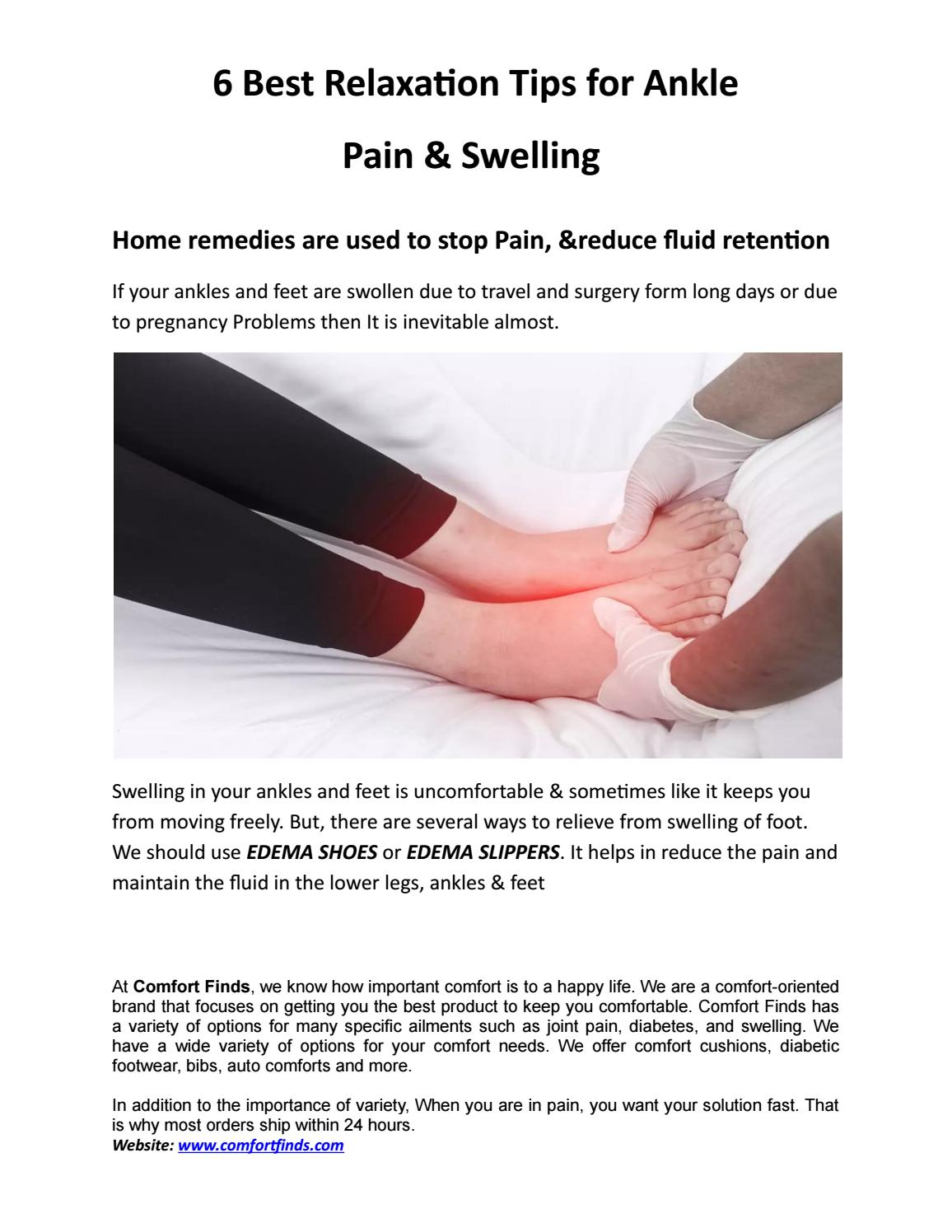6 Best Relaxation Tips for Ankle Pain & Swelling by COMFORTFINDS - issuu