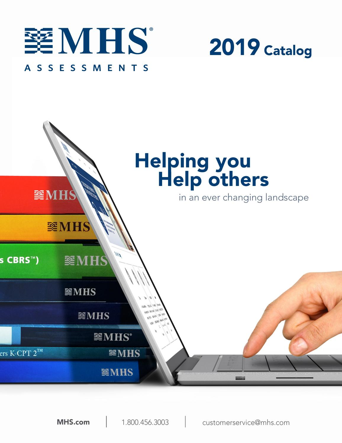 Multi Health Services Inc 2019 Catalog Us Edition By Mhs Assessments Issuu