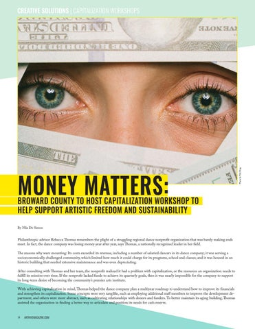 Page 14 of  MONEY MATTERS: Broward County to Host Capitalization Workshop to Help Support Artistic Freedom and Sustainability